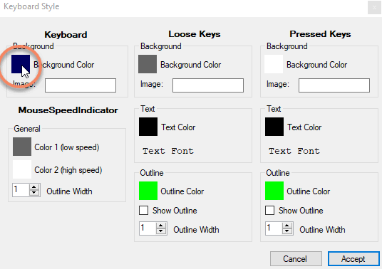 Changing keyboard style