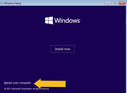 Windows Setup Program