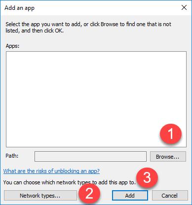 Adding an app to allowed list