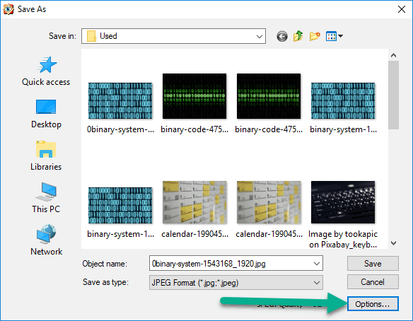 Compressing images to reduce file size using FastStone Image