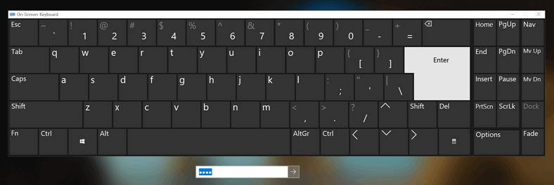 On-Screen keyboard on Windows login screen